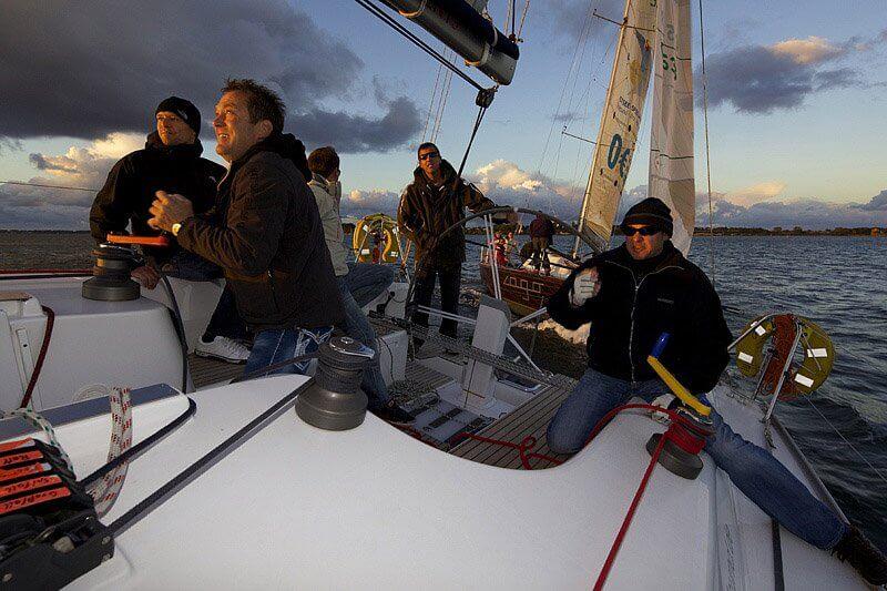 Letzte Stralsunder Mittwochsregatta 2012 fotografiert an Bord der Grapefruit