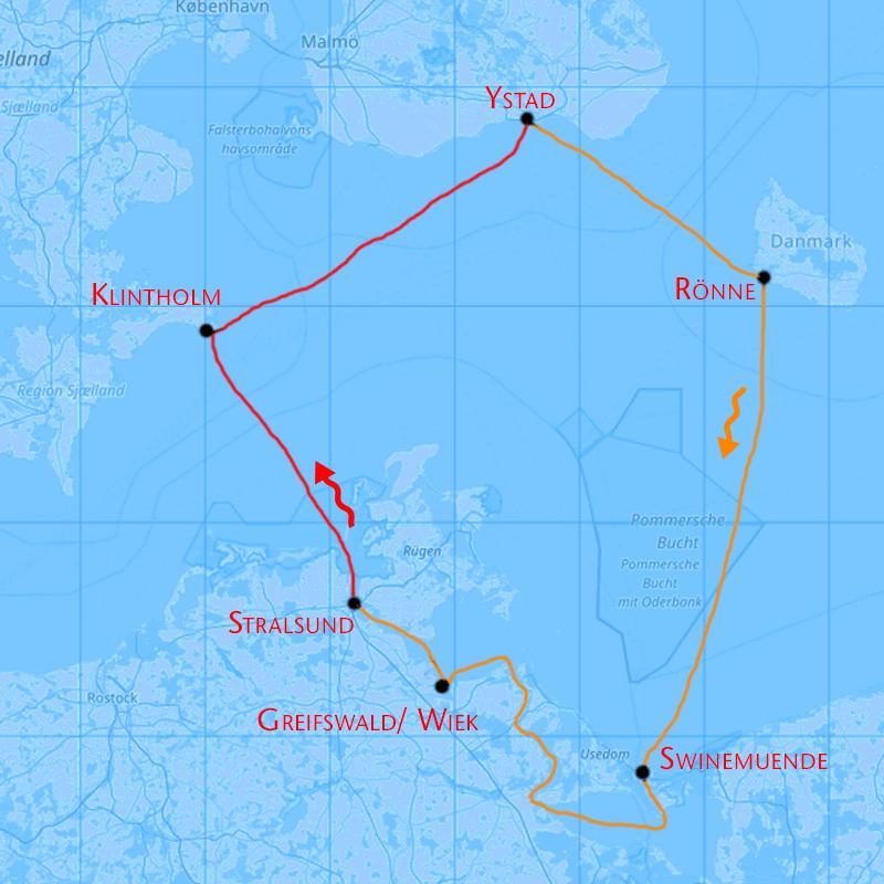 Baltic Four Corners Segeln von Stralsund in Mecklenburg Vorpommern über die Ostsee