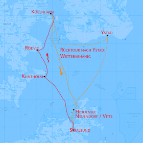 Kopenhagen Segeln von Stralsund in Mecklenburg Vorpommern über die Ostsee