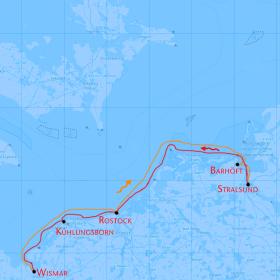 Törn Ostsee Hansestädte Segeln von Stralsund in Mecklenburg Vorpommern über die Ostsee