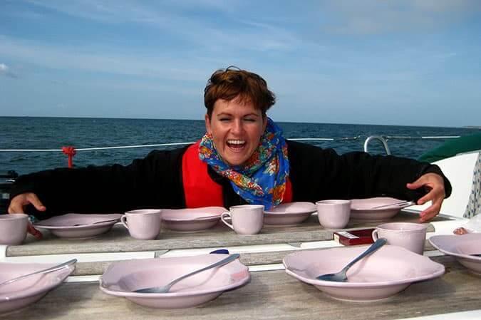 mitsegeln ostsee lunchtime auf der yacht kaethe