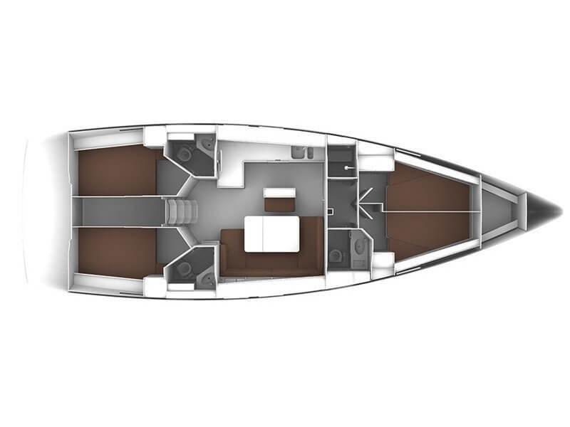 Die Kabinen-Aufteilung auf unserem Schiff