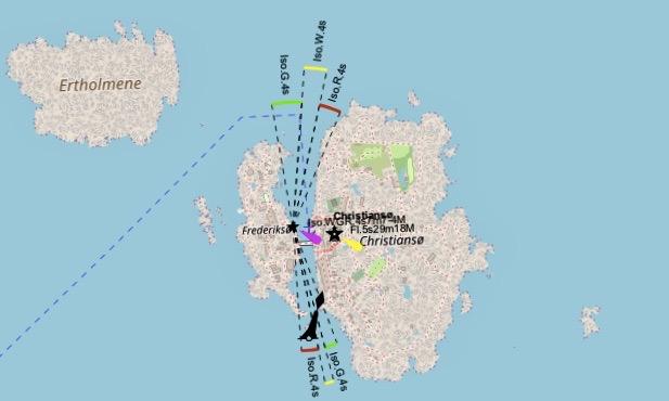 Christiansø Karte
