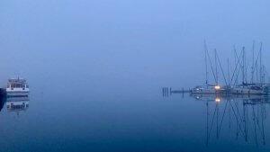 abends auf Hiddensee Segelboot